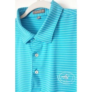 Peter Millar Golf Polo Summer Comfort Blue Size XL